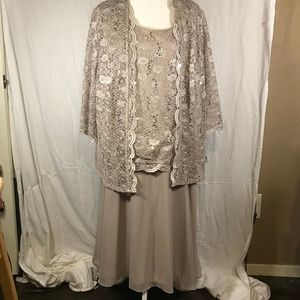 R&M Richardson 20W Evening Dress Roman Champagne